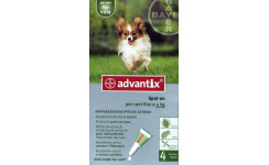 ADVANTIX SPOT ON do 4kg 1x 0,4ml