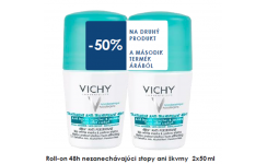 VICHY DUOPACK DEODORANT ROLL ON 48HOD 50ML BEZ ŠKVŔN